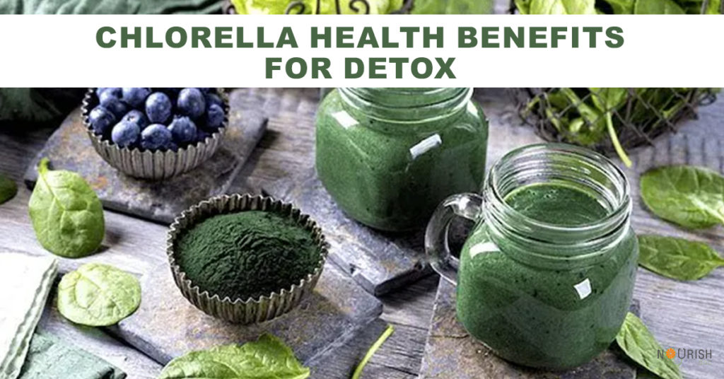 Chlorella algae has a high chlorophyll content. This helps cleanse our blood