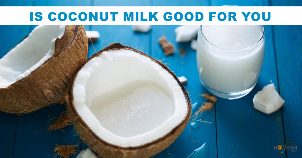 Coconut milk may have health benefits when taken in moderation. But high levels of fats and calories eating a carb-rich diet can lead to weight gain