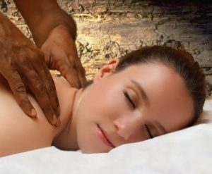 Udvartana ayurvedic powder massage treatment is beneficial for reducing excess cellulite for weight loss