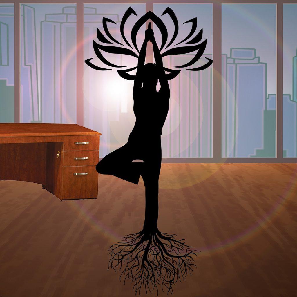 office desk yoga
